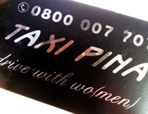 Taxi Pina Visitenkarte Isaz Solutions Ch